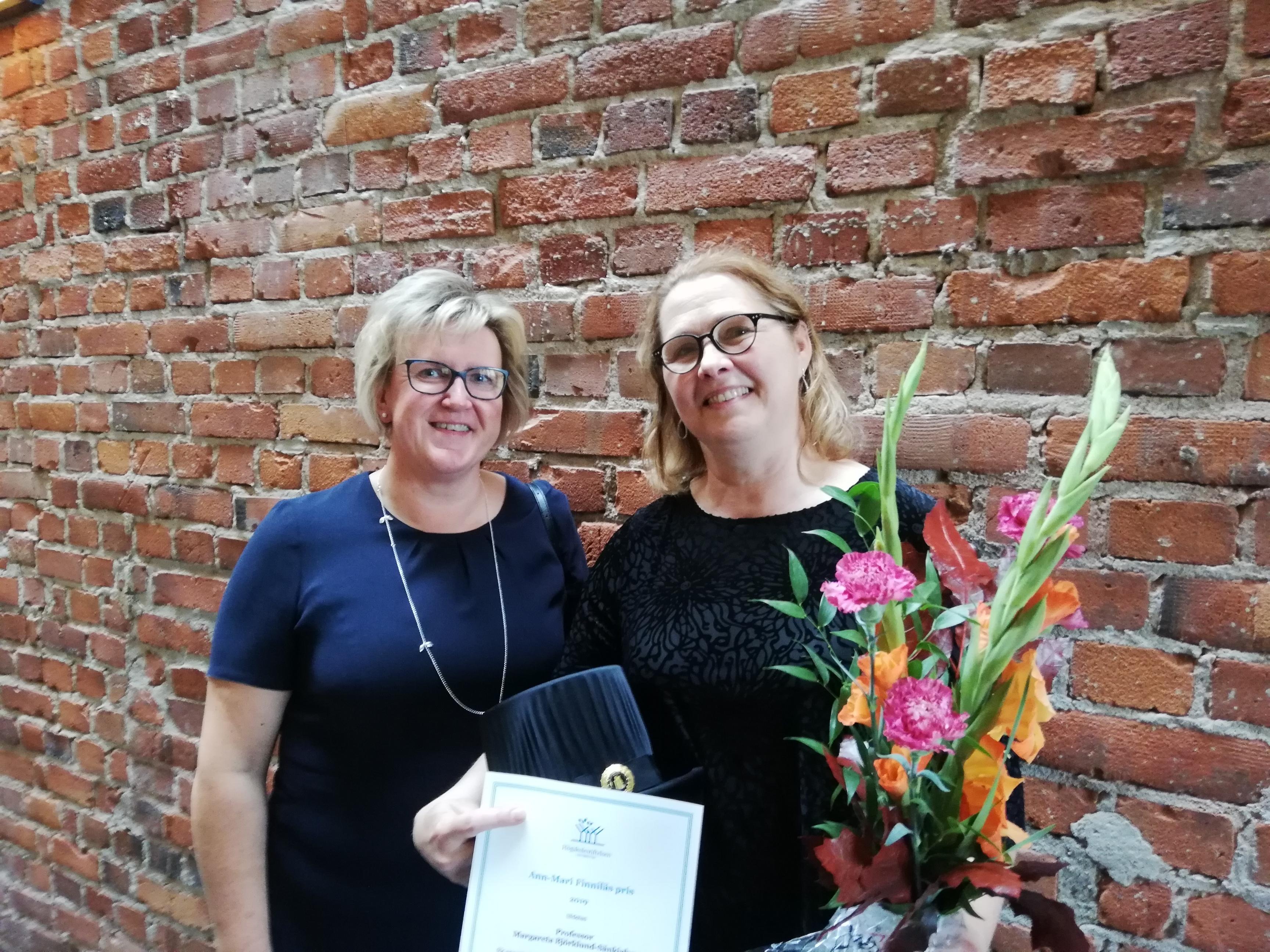 Ann-Mari Finniläs pris går i år till professor Margareta Björklund- Sänkiaho